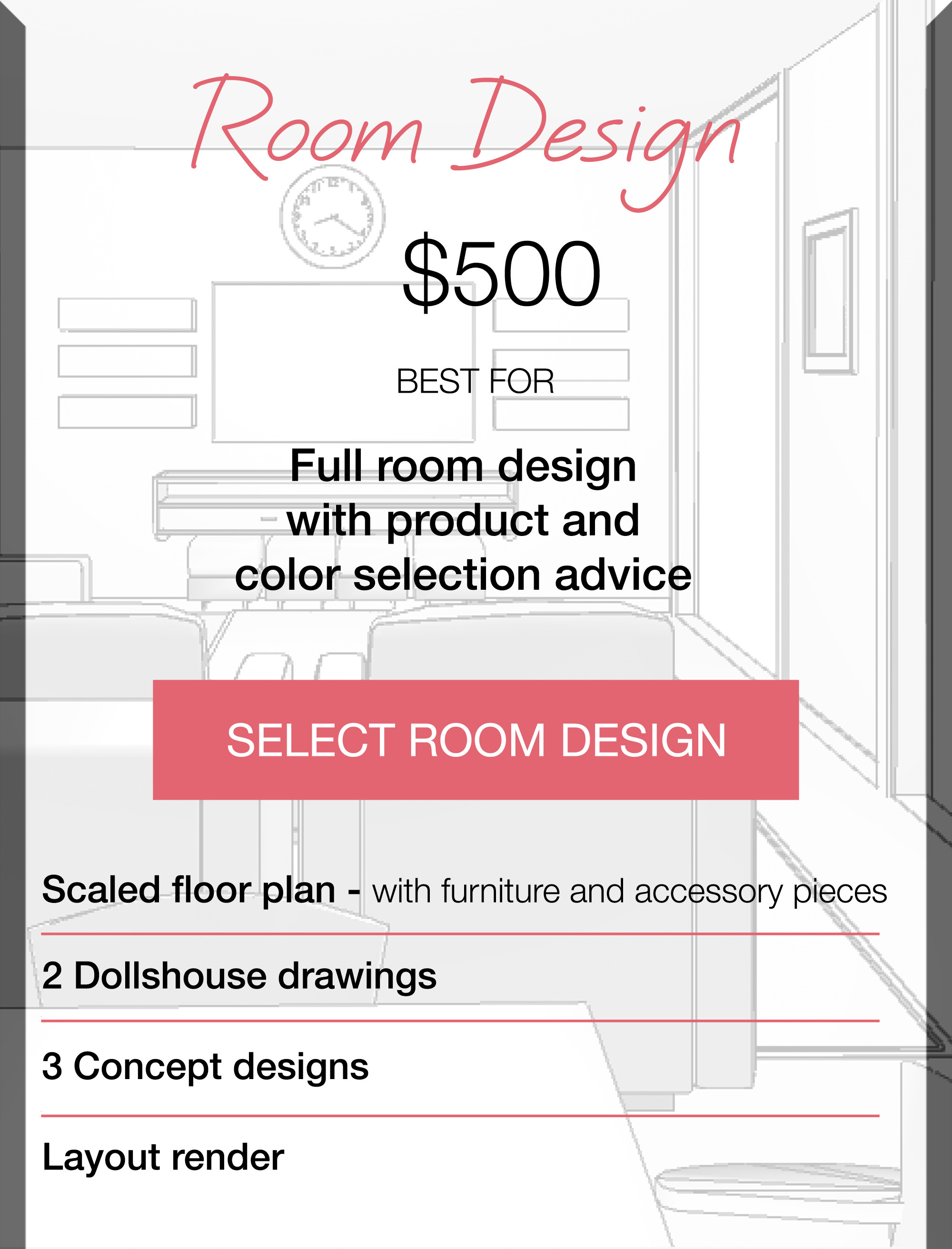 Design process what to expect at kylie t interiors for Apartment design process
